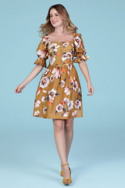 Vestido Floral Honey Fox