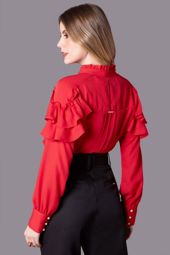 Camisa Angelina Rouge